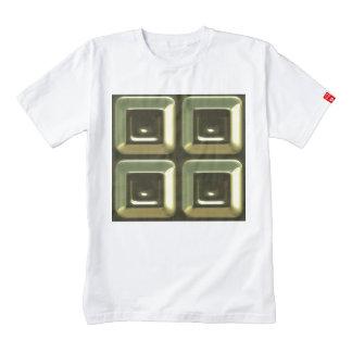 diseño verde del extracto de 4 cuadrados playera zazzle HEART