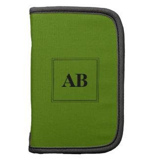 Diseño verde del monograma del aguacate planificador