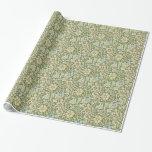 Diseño verde del papel pintado floral de William