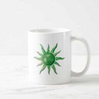DISEÑO VERDE DEL SOL TAZAS DE CAFÉ