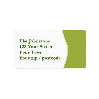 Diseño verde etiquetas de dirección