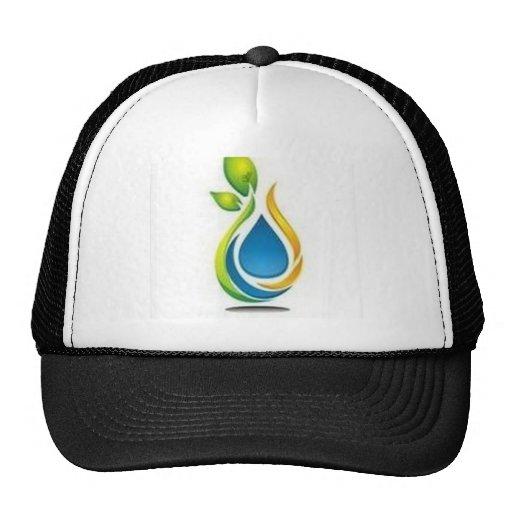 Diseño verde gorras de camionero