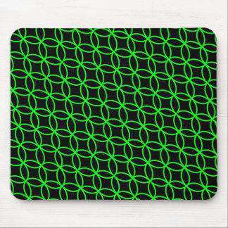 Diseño verde negro Mousepad de las pulseras