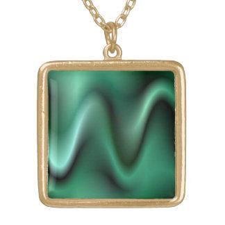 Diseño verde oscuro de la onda colgante cuadrado