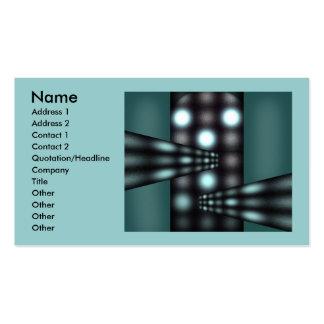 Diseño verde tarjetas de visita