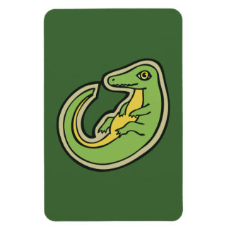 Diseño verde y amarillo lindo del dibujo del imanes de vinilo