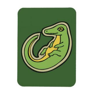 Diseño verde y amarillo lindo del dibujo del imanes flexibles