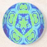Diseño verde y azul del caleidoscopio