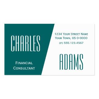 Diseño verde y blanco dividido del trullo oscuro plantillas de tarjeta de negocio