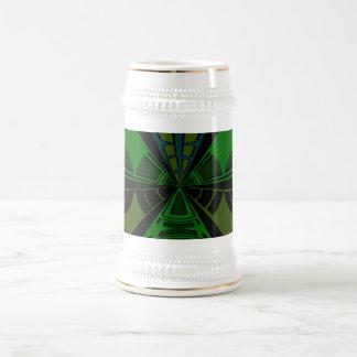 Diseño verde y negro del rectángulo taza de café