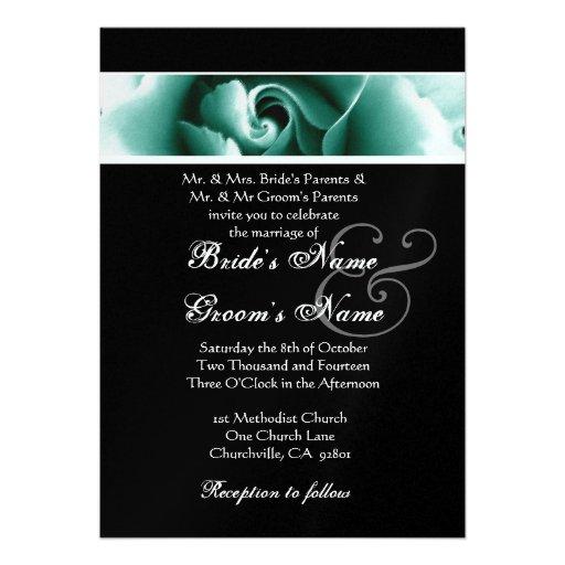 Diseño verde y negro del rosa que casa el papel me comunicado