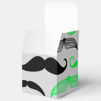 Diseño verde y púrpura del bigote caja para regalos