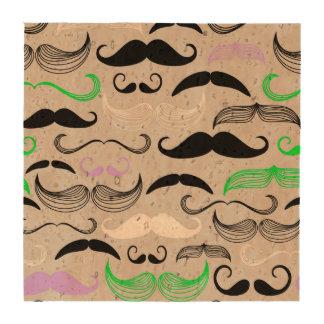 Diseño verde y púrpura del bigote posavasos