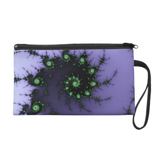 Diseño verde y púrpura del caracol del fractal - d