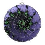 Diseño verde y púrpura del caracol del fractal - d tablero dardos
