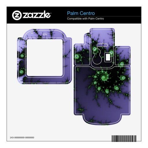 Diseño verde y púrpura del caracol del fractal - d skins para elPalm centro