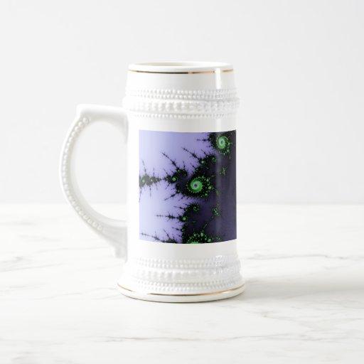 Diseño verde y púrpura del caracol del fractal - d tazas de café