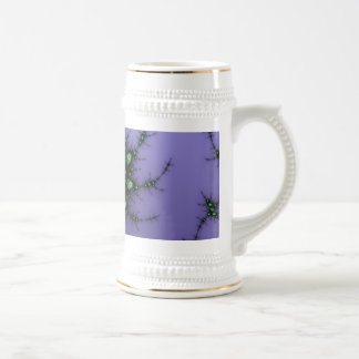 Diseño verde y púrpura del caracol del fractal - d taza de café