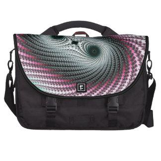 Diseño verde y rosado del huracán doble - del frac bolsas de portátil