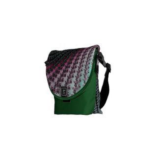 Diseño verde y rosado del huracán doble - del frac bolsa de mensajeria