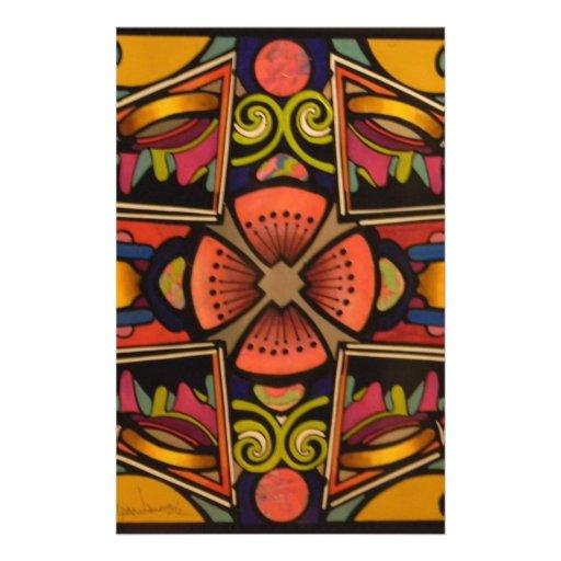 Diseño vibrante contemporáneo gráfico del estilo d papelería de diseño