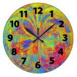 Diseño vibrante del arte abstracto de los colores relojes de pared