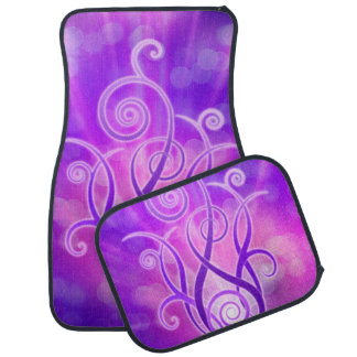 Diseño violeta de la llama alfombrilla de auto