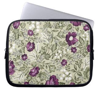 Diseño violeta de las flores funda portátil