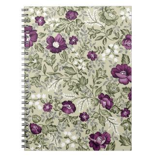 Diseño violeta de las flores libretas