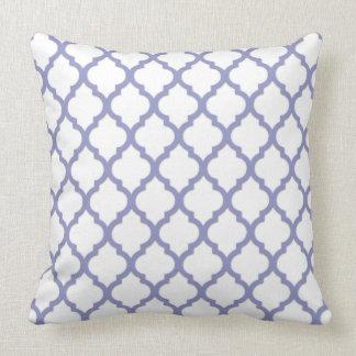 Diseño violeta de Quatrefoil de la tonalidad del t Almohadas