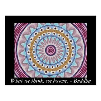 Diseño visual del rezo con cita del budista de ZEN Tarjetas Postales