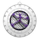Diseño vitruvian del hombre del círculo psicodélic tabla dardos