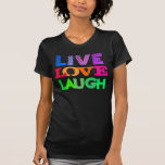 Diseño vivo de la risa del amor del corazón del camiseta