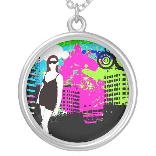 Diseño vivo del chica de la ciudad urbana pendiente personalizado