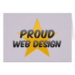 Diseño web orgulloso felicitación