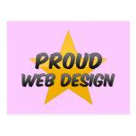 Diseño web orgulloso postal