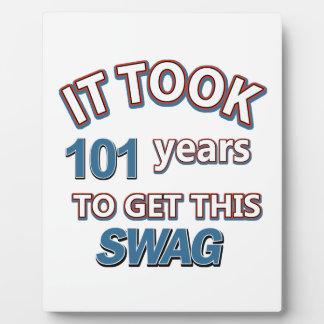 diseños 101 años placas para mostrar