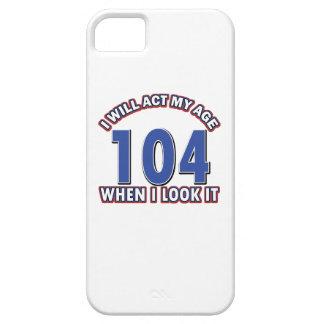 Diseños 104 años divertidos iPhone 5 funda