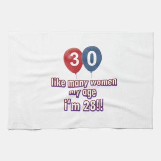 diseños 30 años de las mujeres toallas de mano