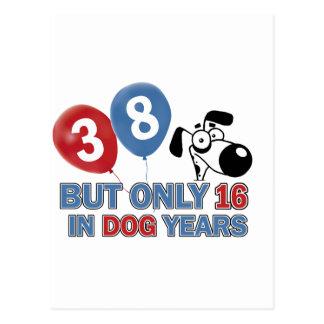 diseños 38 años de los años del perro postal