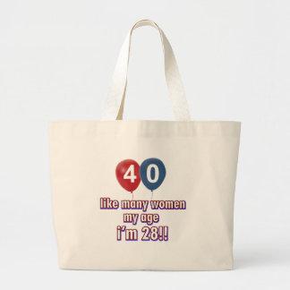 diseños 40 años de las mujeres bolsa tela grande