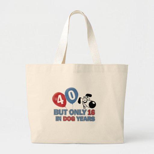 diseños 40 años de los años del perro bolsa de mano