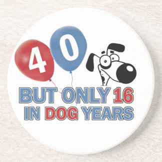 diseños 40 años de los años del perro posavasos para bebidas