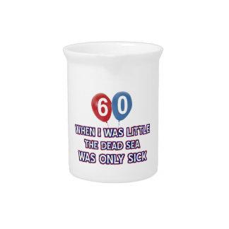 diseños 60 años del cumpleaños del mar muerto jarras