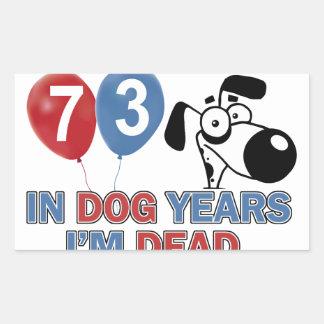 diseños 73 años de los años del perro etiquetas