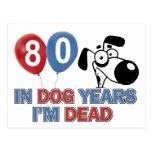 diseños 80 años de los años del perro postal
