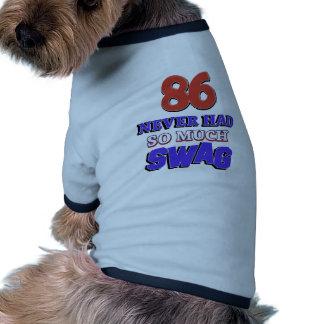 diseños 86 años camisetas de perrito