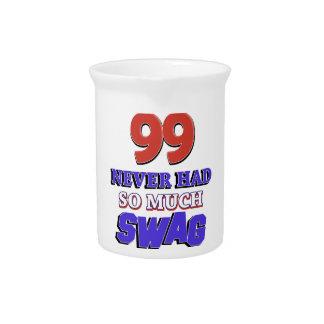 diseños 99 años jarras de beber