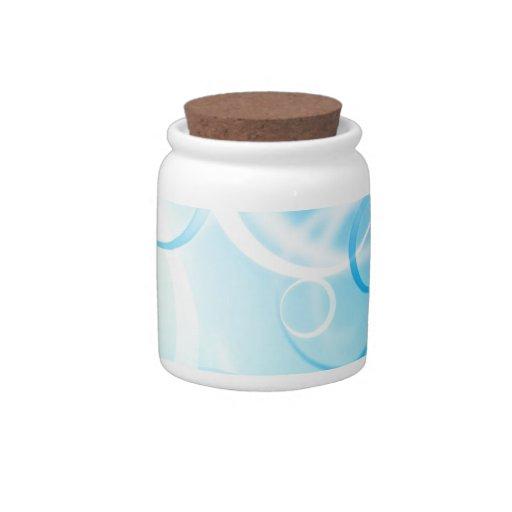 Diseños abstractos azules de las ilustraciones jarra para caramelo