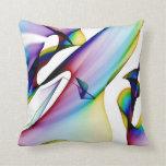 Diseños abstractos bilaterales azules claros de la almohadas